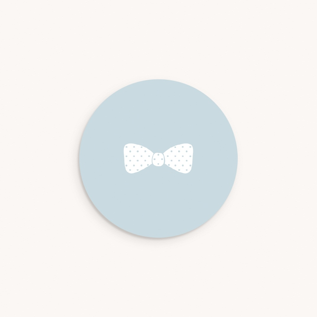 Sticker Enveloppe Baptême Petit Gentleman, sticker rond