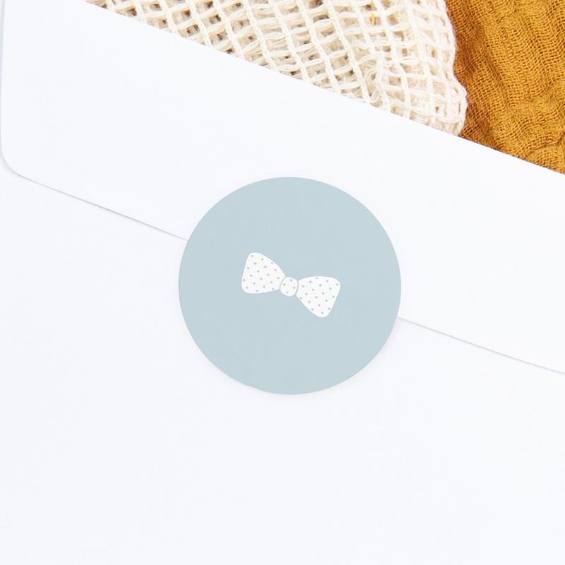 Sticker Enveloppe Baptême Petit Gentleman, sticker rond gratuit