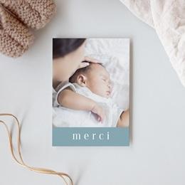 Carte de Remerciement Baptême Petit Gentleman gratuit