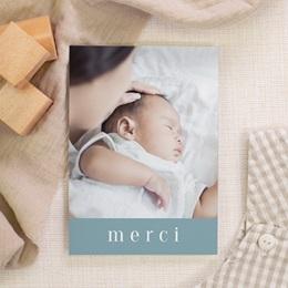 Carte de Remerciement Baptême Petit Gentleman