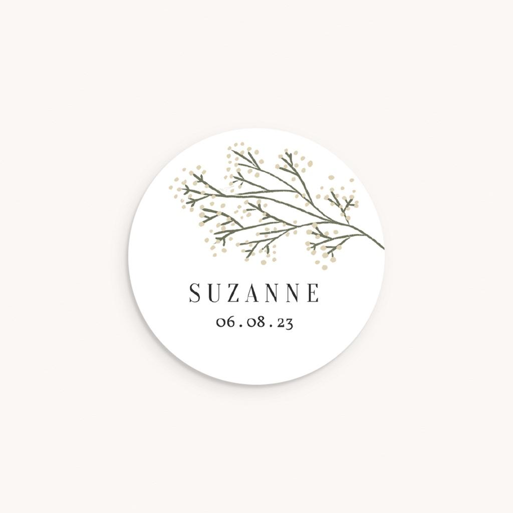 Sticker Enveloppe Naissance Brindilles Baies Beiges