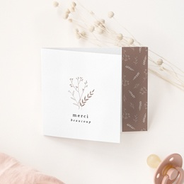 Carte de Remerciement Naissance Champêtre naturel, décalé gratuit