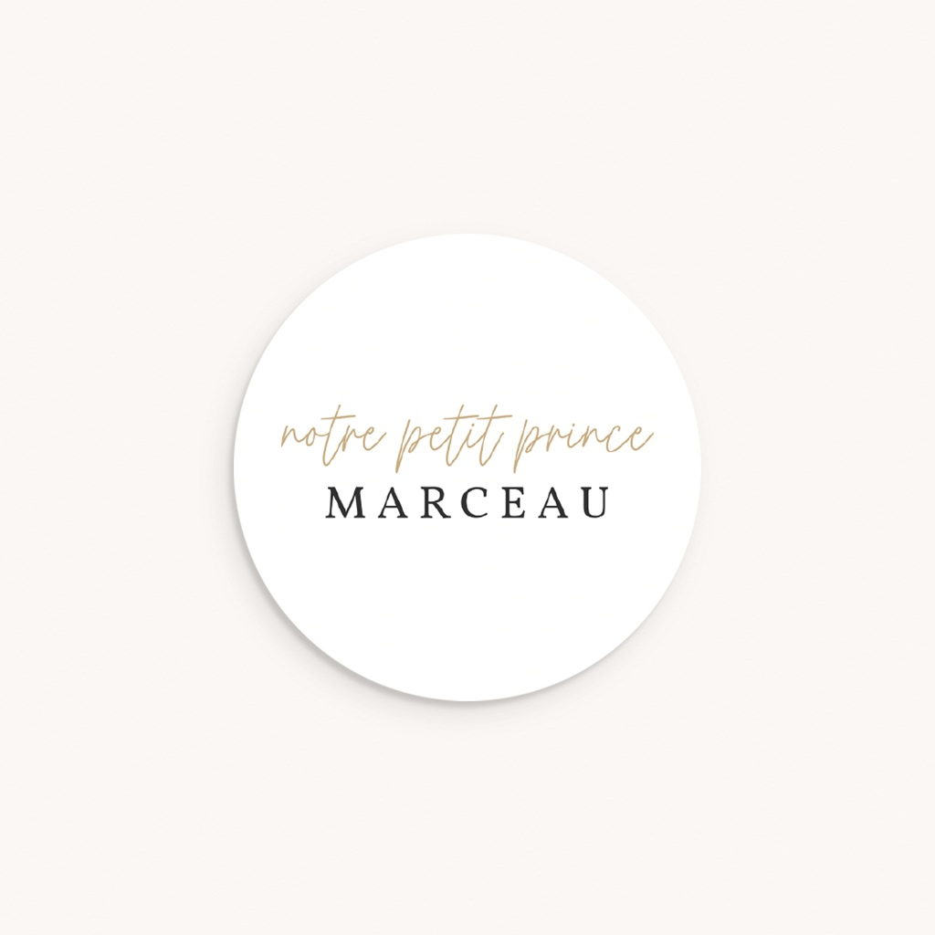 Sticker Enveloppe Naissance Beau Petit Prince
