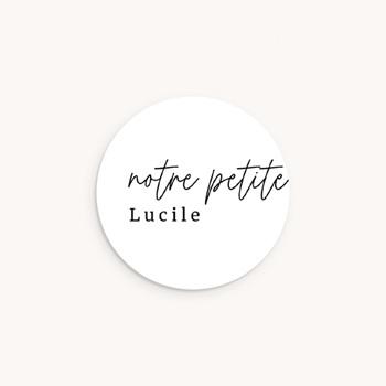 Sticker Enveloppe Naissance Petite Typo Script pas cher