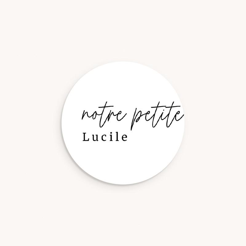 Sticker Enveloppe Naissance Petite Typo Script