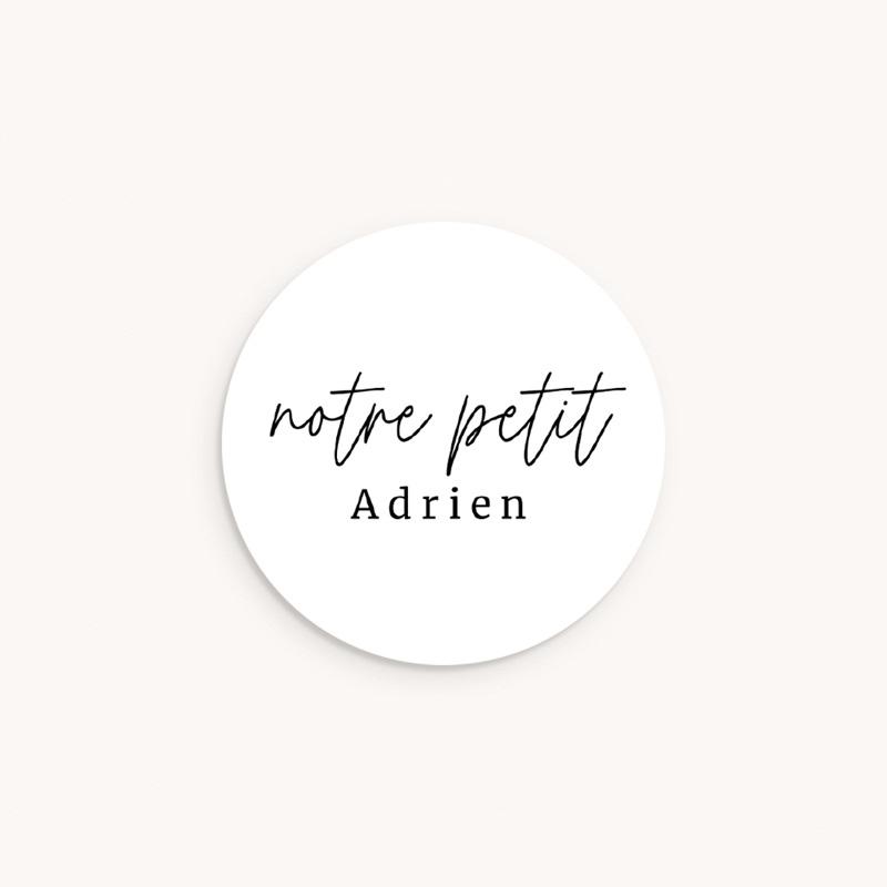 Sticker Enveloppe Naissance Notre Petit Script
