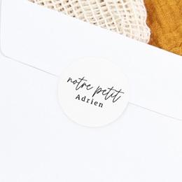 Sticker Enveloppe Naissance Notre Petit Script gratuit
