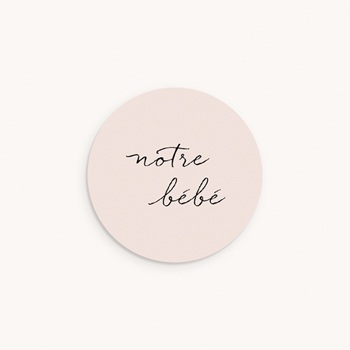 Sticker Enveloppe Naissance Notre bébé Fille, bicolore original