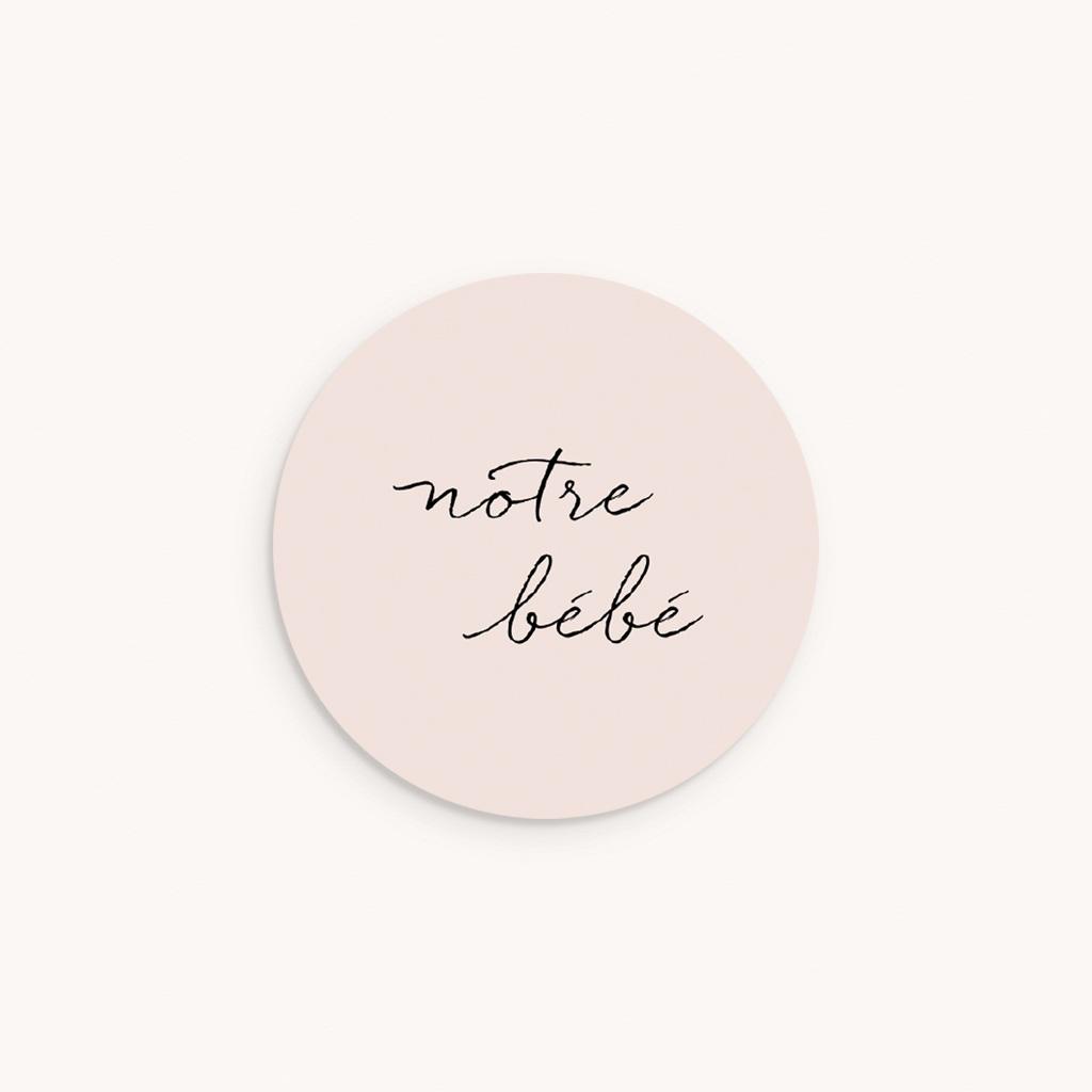 Sticker Enveloppe Naissance Notre bébé Fille, bicolore