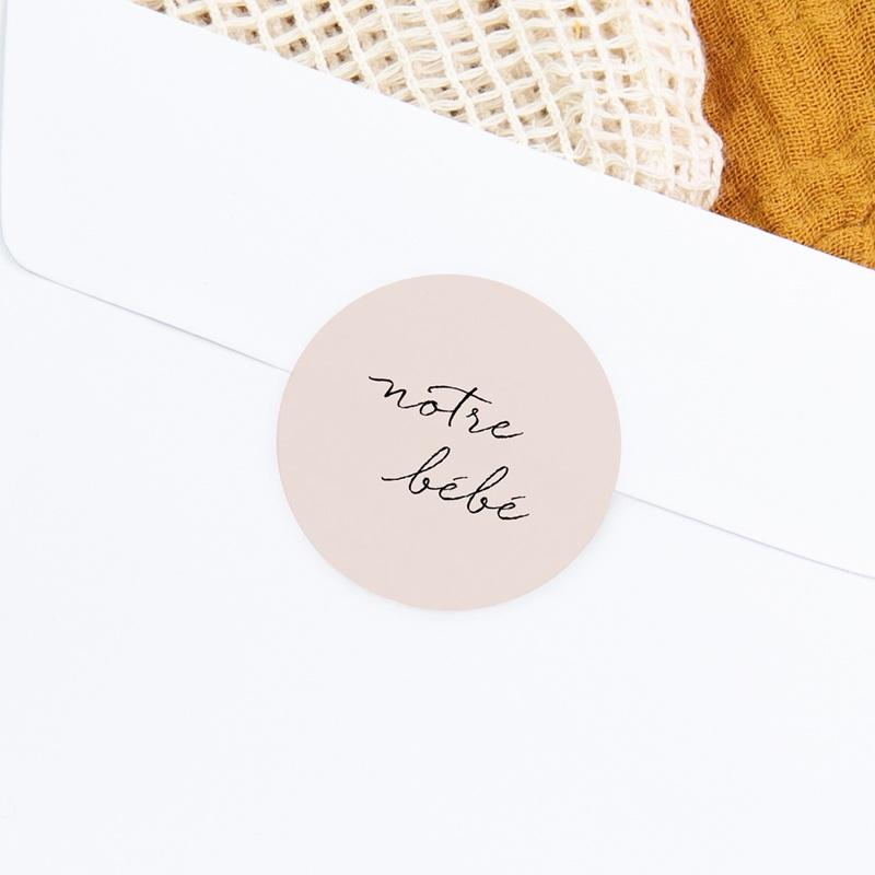 Sticker Enveloppe Naissance Notre bébé Fille, bicolore gratuit