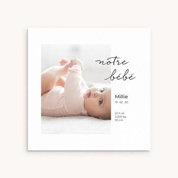 Faire-part de Naissance Notre bébé Fille, portrait original