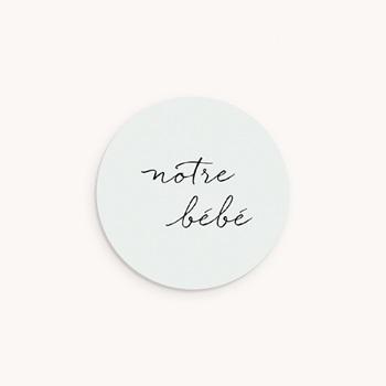 Sticker Enveloppe Naissance Notre bébé garçon, bicolore pas cher