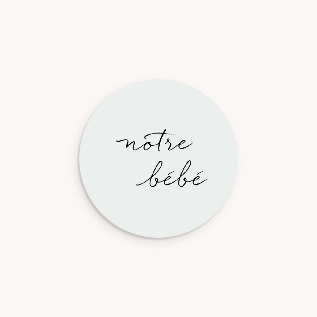 Sticker Enveloppe Naissance Notre bébé garçon, bicolore