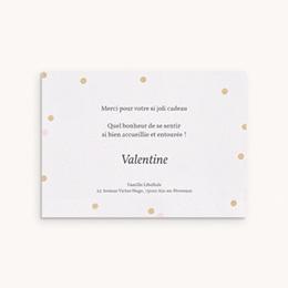 Carte de Remerciement Naissance Vie en rose fille pas cher