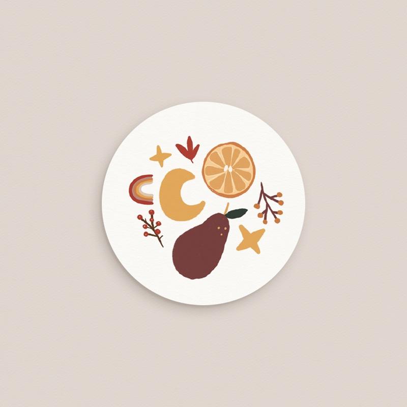 Sticker Enveloppe Naissance Méli Mélo automnal, 4,5 cm gratuit