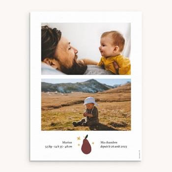 Affiche Déco Chambre Enfant Méli Mélo automnal, 2 photos personnalisé