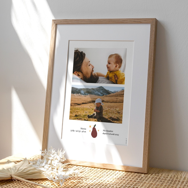 Affiche Déco Chambre Enfant Méli Mélo automnal, 2 photos