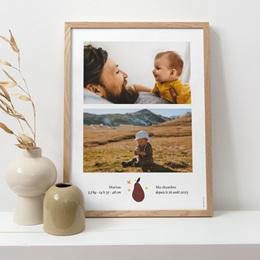 Affiche Déco Chambre Enfant Méli Mélo automnal, 2 photos pas cher