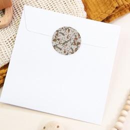 Sticker Enveloppe Naissance Liberty Cerisier japonais pas cher