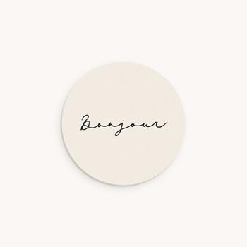 Sticker Enveloppe Naissance Vestiaire Garçonnet, 4,5 cm personnalisé