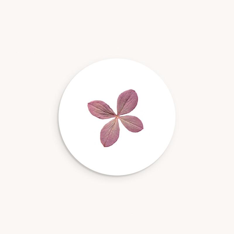 Sticker Enveloppe Naissance Herbier Parme, 4,5 cm