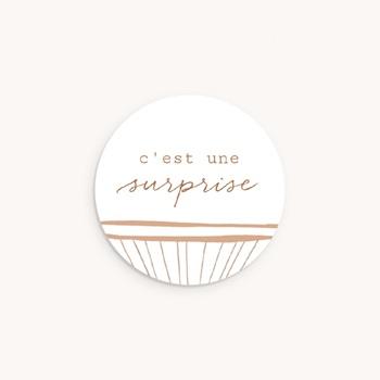Sticker Enveloppe Naissance Landau en Osier, 4,5 cm original