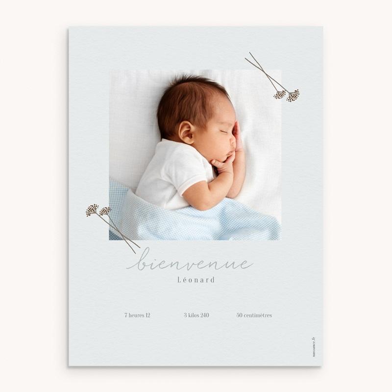 Affiche Déco Chambre Enfant Vestiaire Garçon, 30 x 40