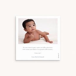 Carte de Remerciement Naissance Vestiaire Garçon, 10 x 10 pas cher