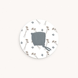 Sticker Enveloppe Naissance Vestiaire Garçon, Bonnet, 4,5 cm