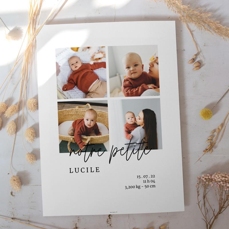 Affiche Déco Chambre Enfant Petite Typo Script, 4 photos gratuit