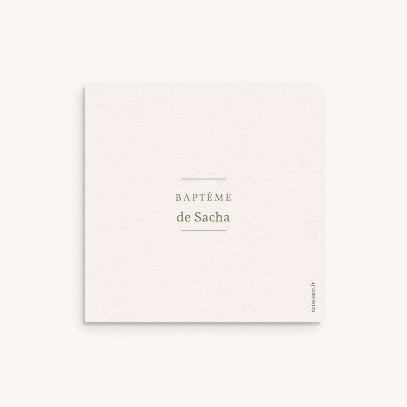 Carte de Remerciement Baptême Ourson des Bois, frise pas cher