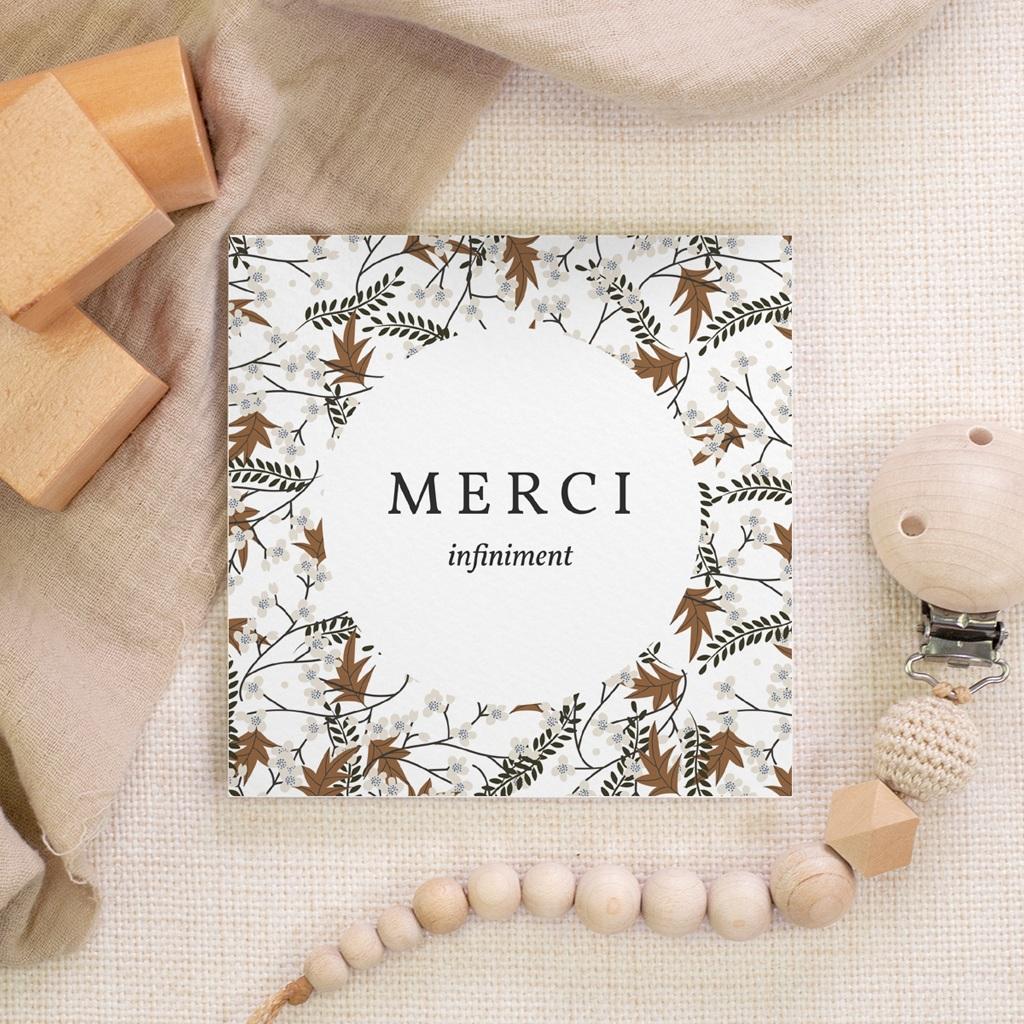 Carte de Remerciement Naissance Liberty motif cerisier, 10 x 10 cm gratuit