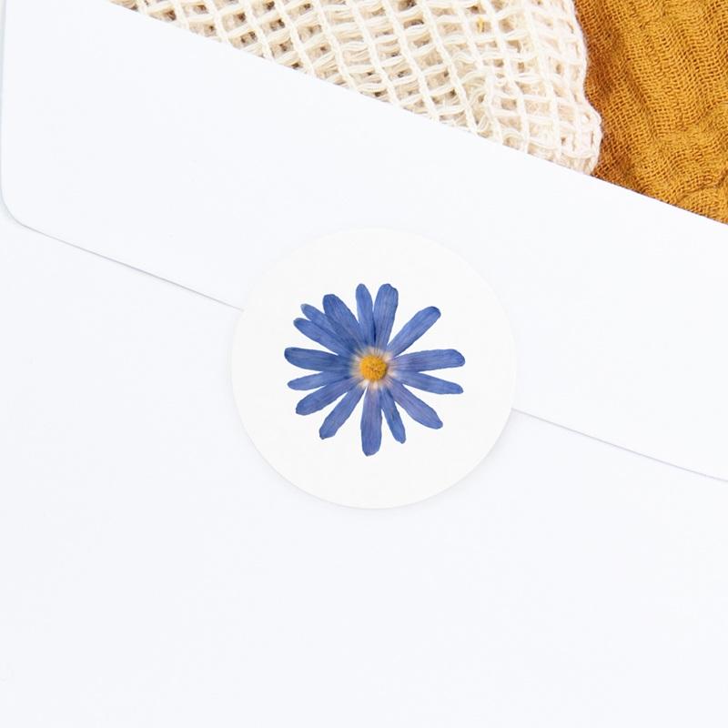 Sticker Enveloppe Naissance Herbier Bleuté, 4,5 cm gratuit