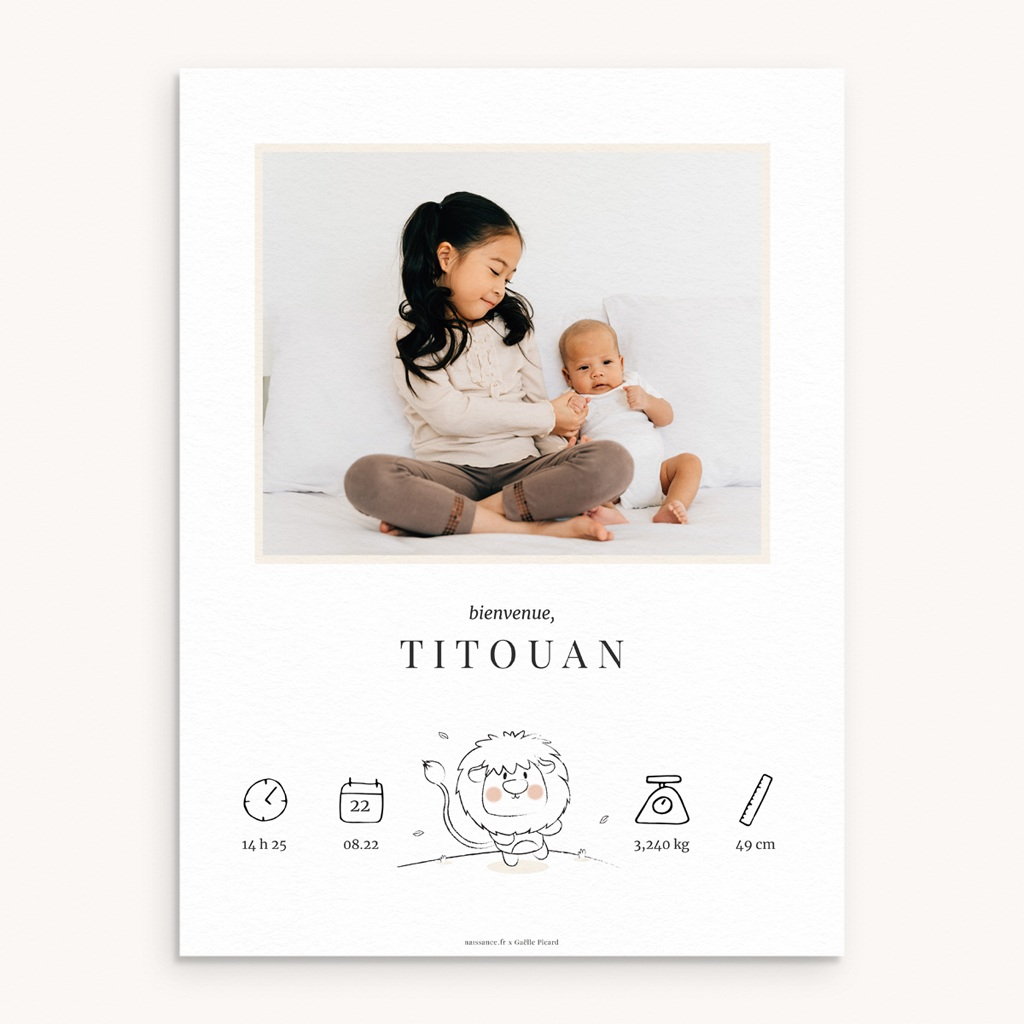 Affiche Déco Chambre Enfant Petit Lion