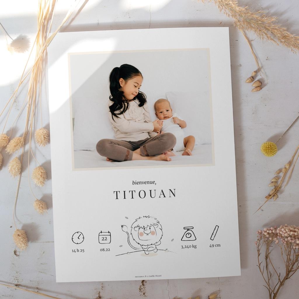 Affiche Déco Chambre Enfant Petit Lion gratuit