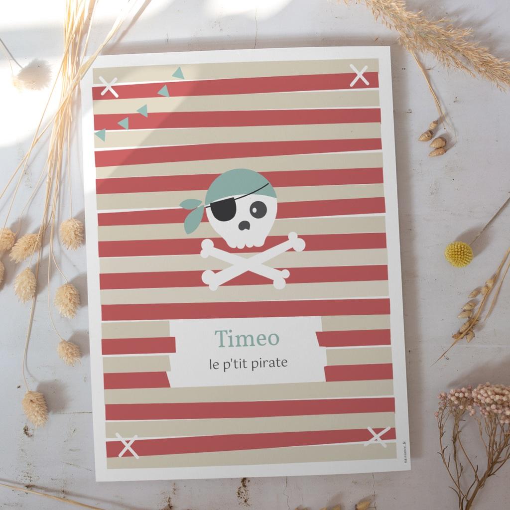 Affiche Déco Chambre Enfant A l'Abordage gratuit