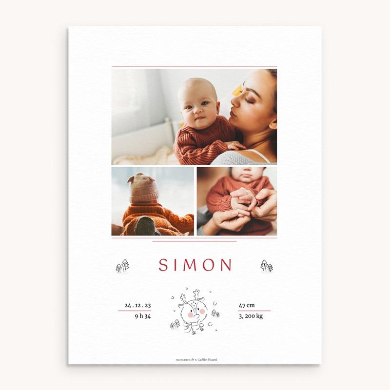 Affiche Déco Chambre Enfant Petit cerf