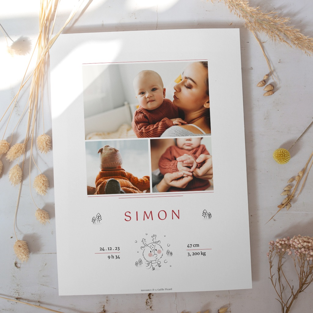 Affiche Déco Chambre Enfant Petit cerf gratuit