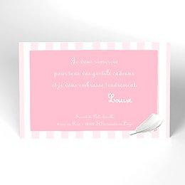 Carte de Remerciement Naissance Cosy rose