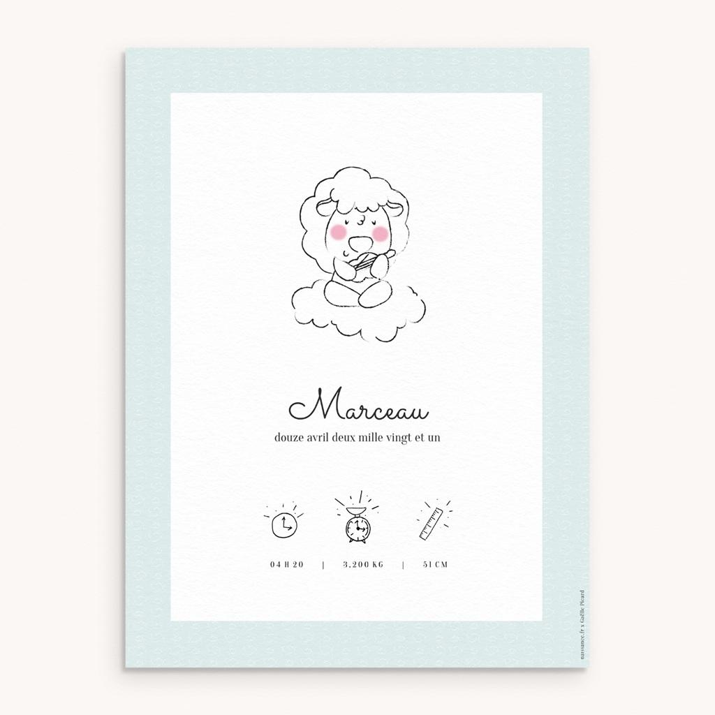 Affiche Déco Chambre Enfant Petit mouton