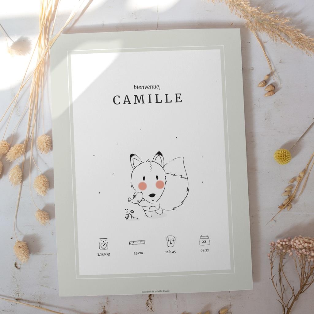 Affiche Déco Chambre Enfant Petit renard gratuit