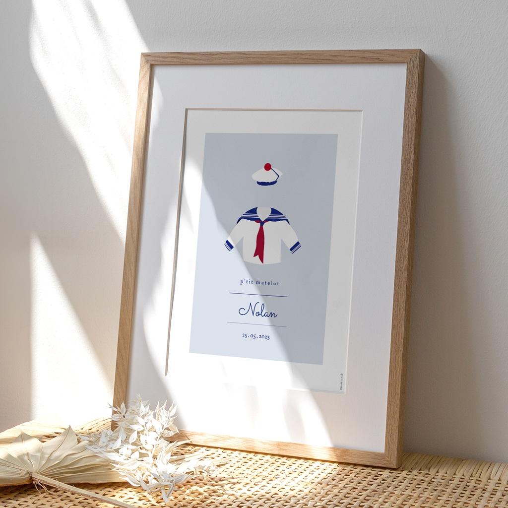 Affiche Déco Chambre Enfant Esprit Marin - Matelot
