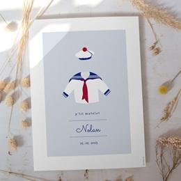 Affiche Déco Chambre Enfant Esprit Marin - Matelot gratuit
