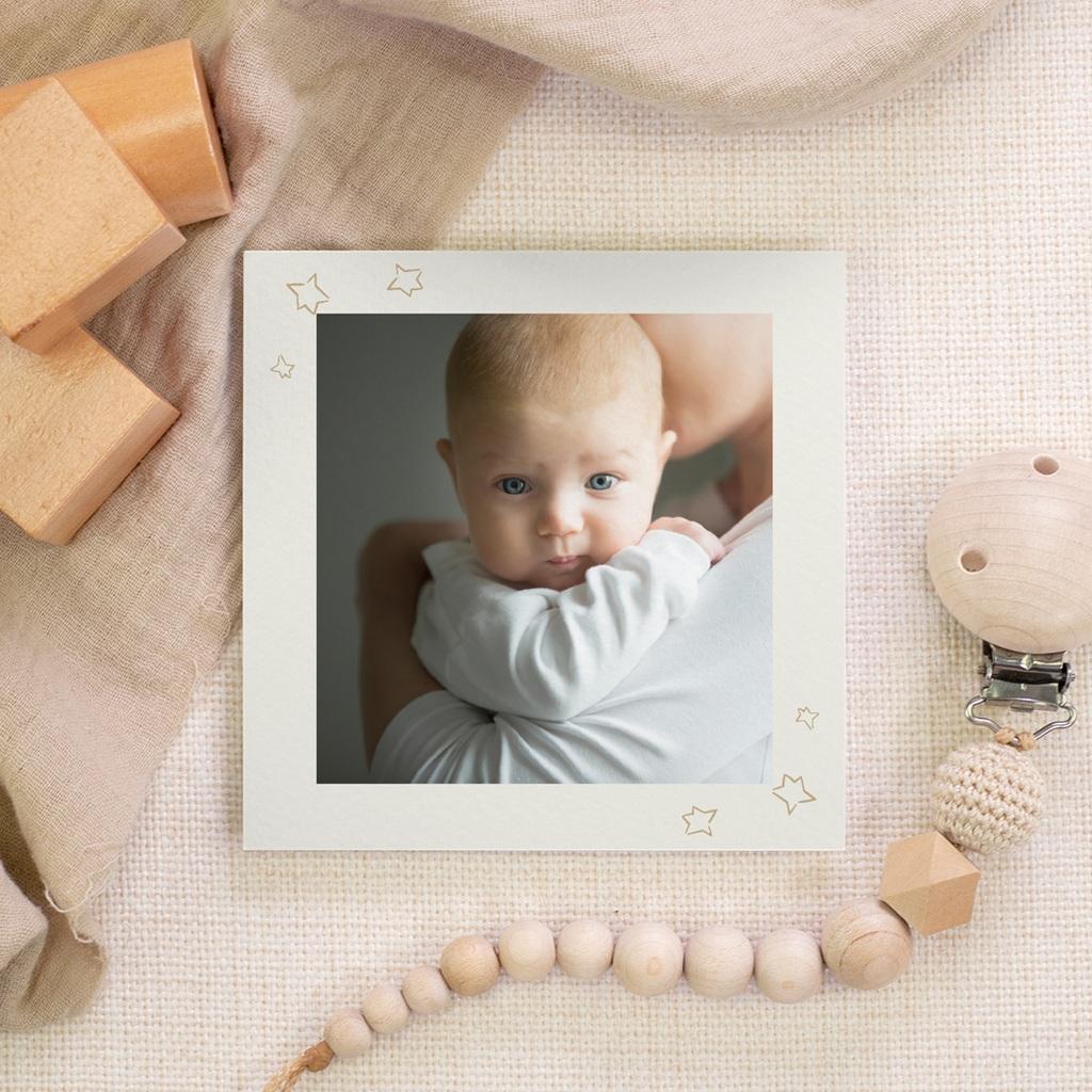 Carte de Remerciement Naissance Planètes et photo, 10 x 10 gratuit