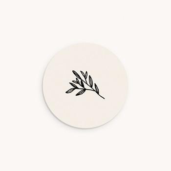 Sticker Enveloppe Naissance Brin noir, beige, 4,5 cm original