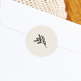 Sticker Enveloppe Naissance Brin noir, beige, 4,5 cm gratuit