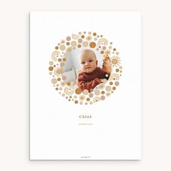 Affiche Déco Chambre Enfant - Galaxie ensoleillée, Photo, 30 x 40 cm - 0