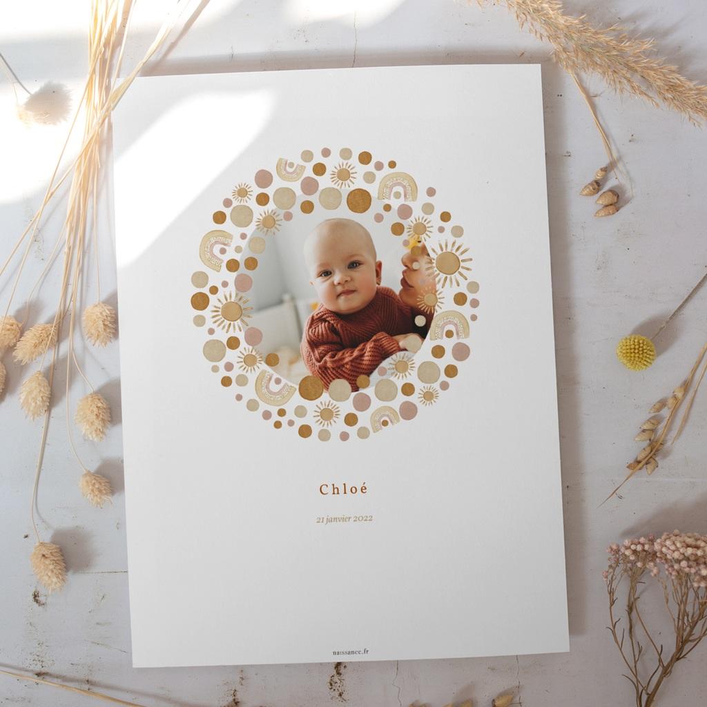 Affiche Déco Chambre Enfant Galaxie ensoleillée, Photo, 30 x 40 cm gratuit