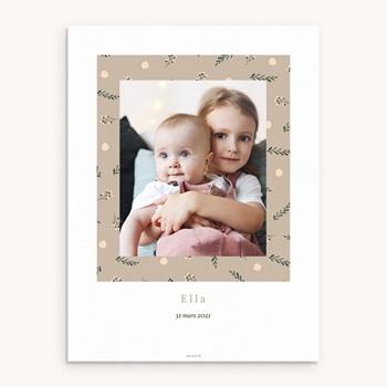Affiche Déco Chambre Enfant Liberty beige, Photo de Famille pas cher