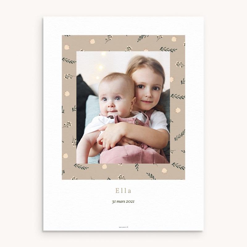 Affiche Déco Chambre Enfant Liberty beige, Photo de Famille